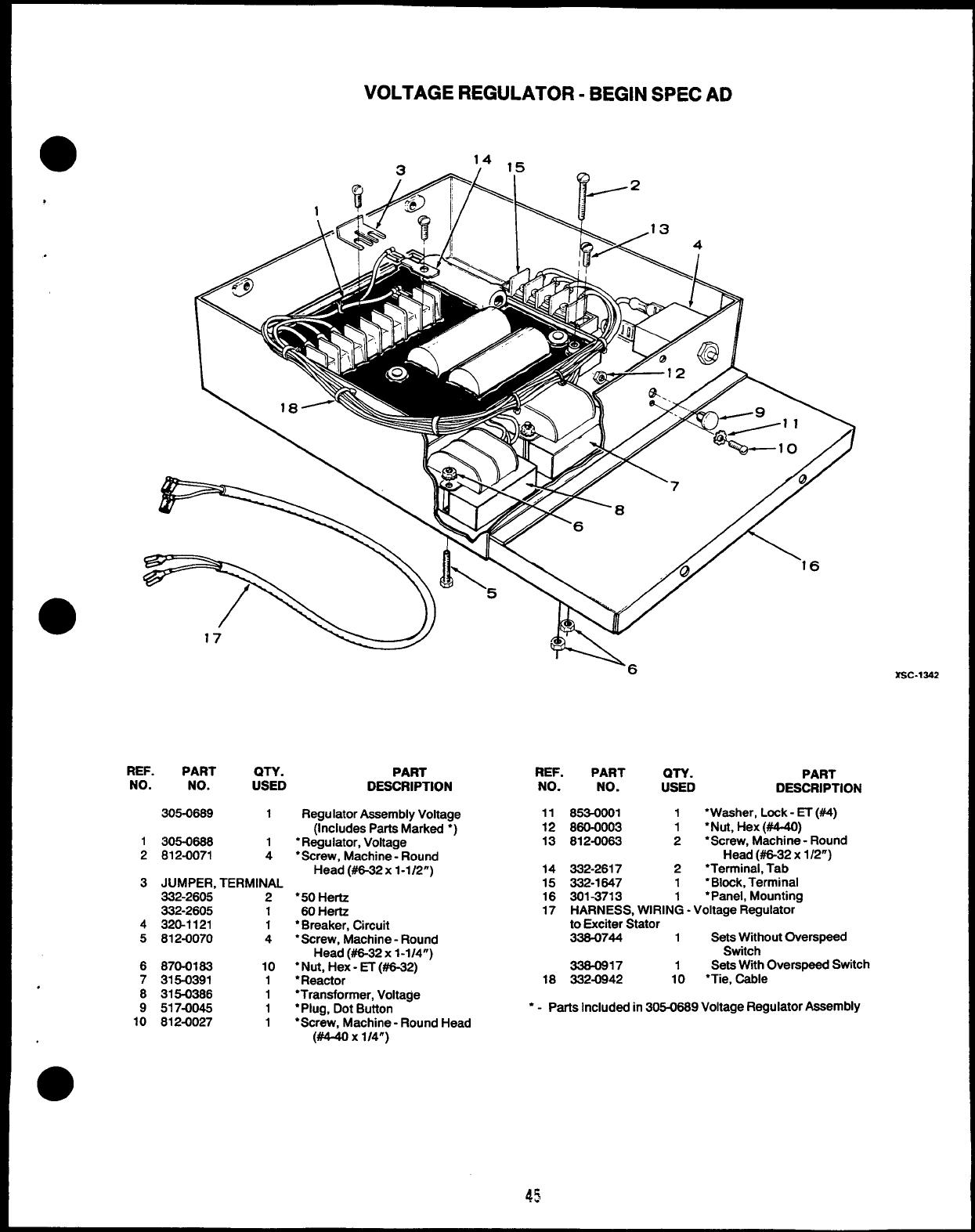968 0221 Onan MDJF (spec A AD) Marine Diesel Gensets Parts