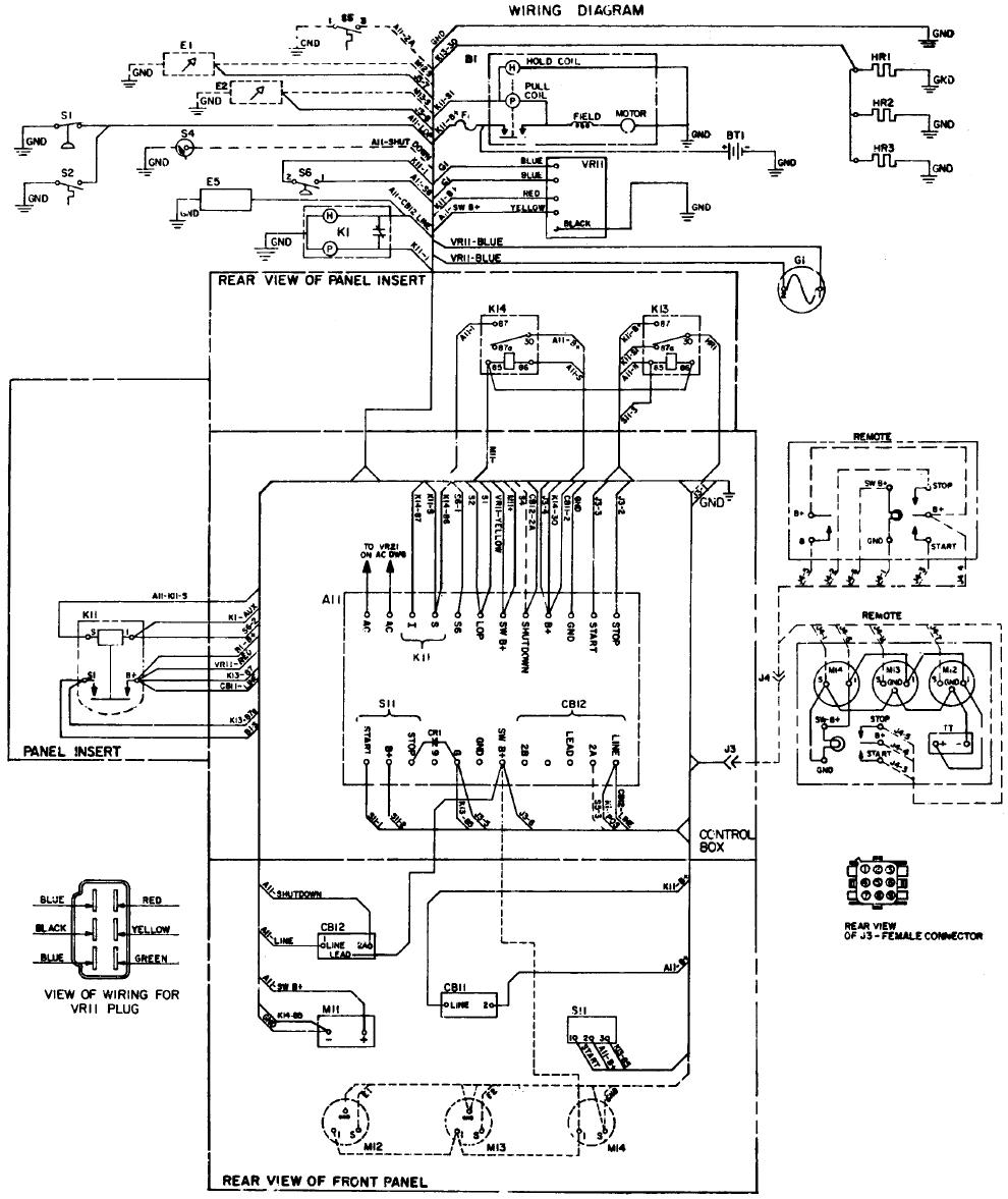 981 0600 Onan MDKC MDKD Series Marine Diesel Genset