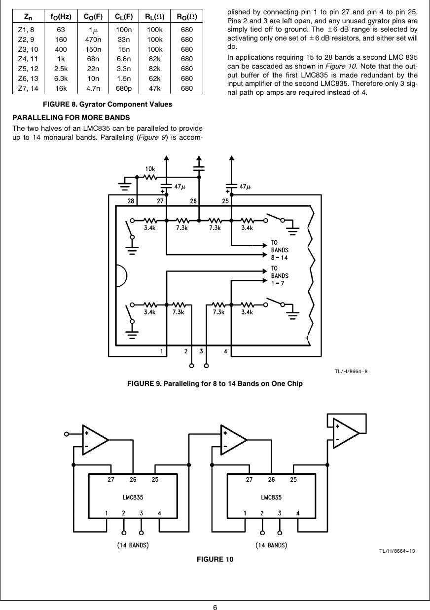 hight resolution of designing with the lmc835 digital controlled graphic equalizer an band graphic equalizer circuit diagram design using lmc835