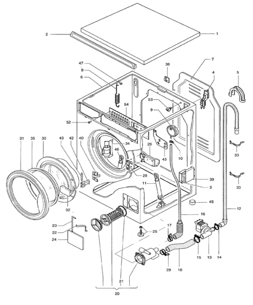 Splendide Washer/Dryer 210 XC Combo Parts Break Down