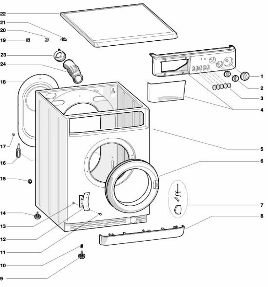 Splendide Washer/Dryer 210 XC Combo Parts Break Down