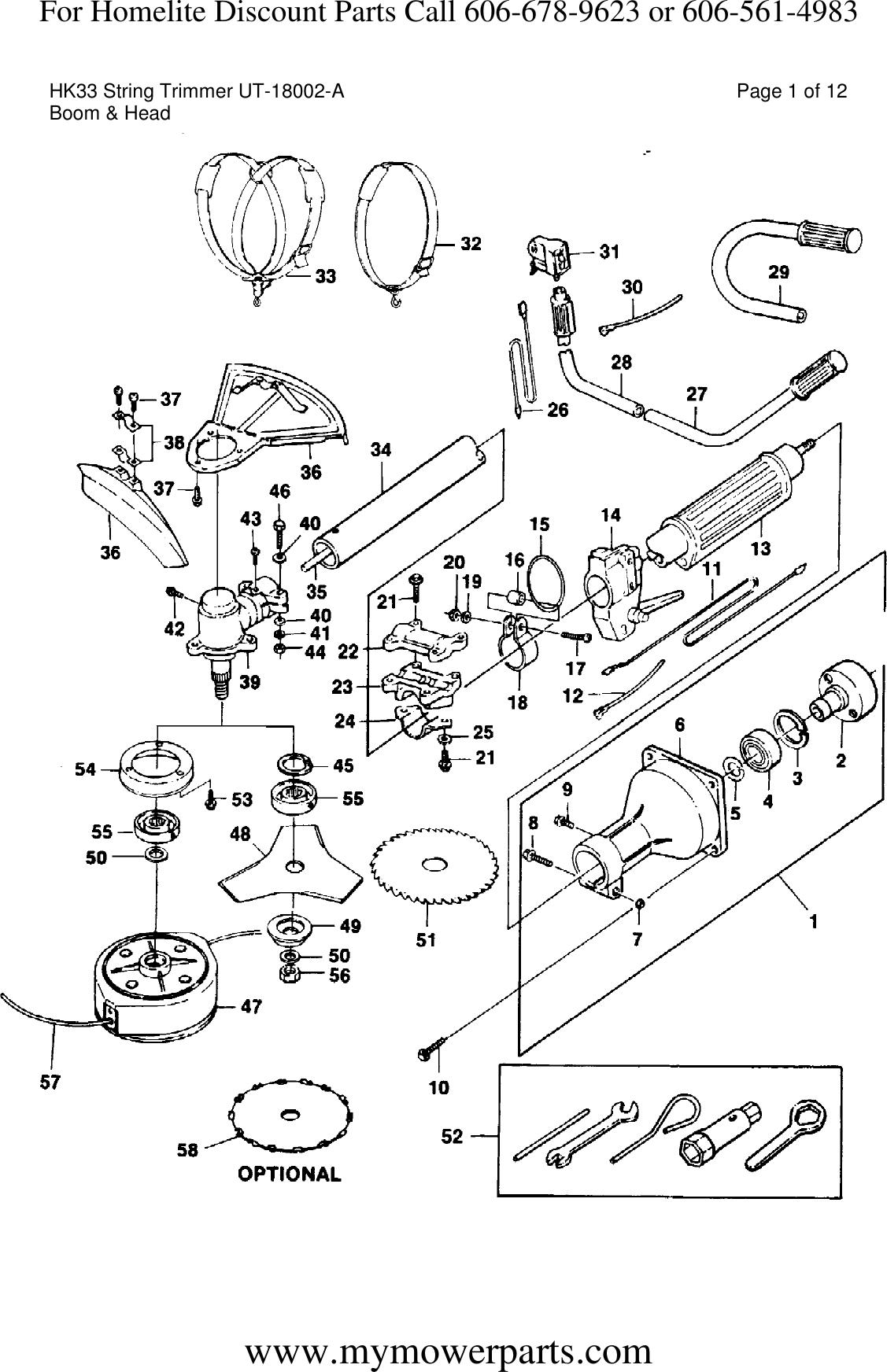 Diagram And/or PartsList !! Homelite String Trimmer Parts
