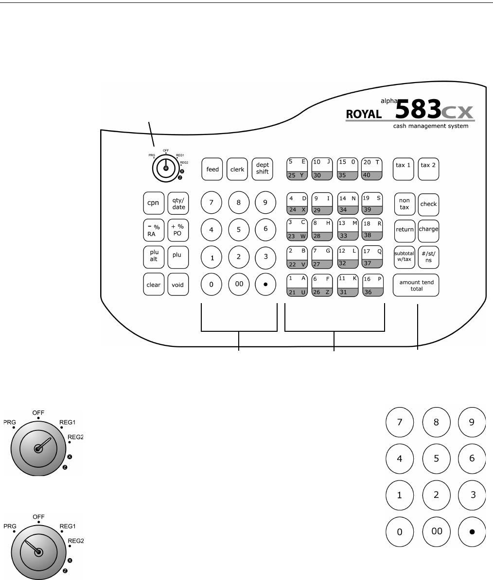 Royal 583cx Cash Register Alpha Manual Instruction
