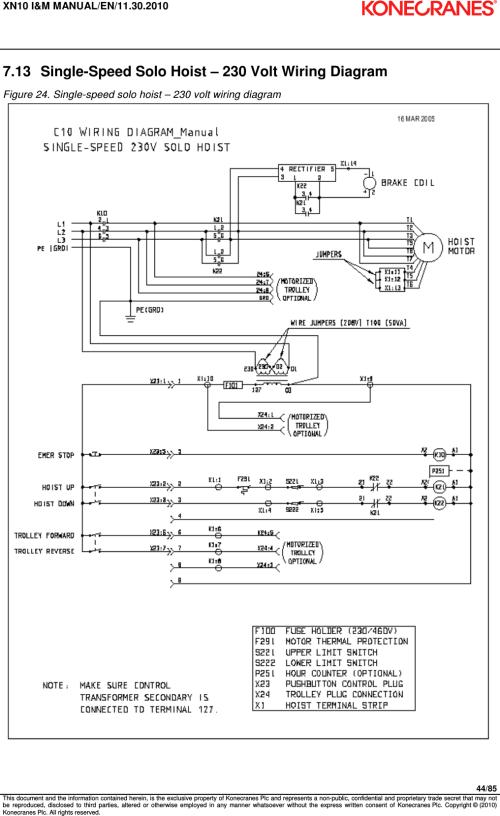 small resolution of 380 volt wiring diagram overhead crane