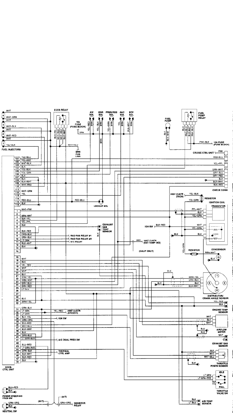 1990 Nissan Axxess Diagram