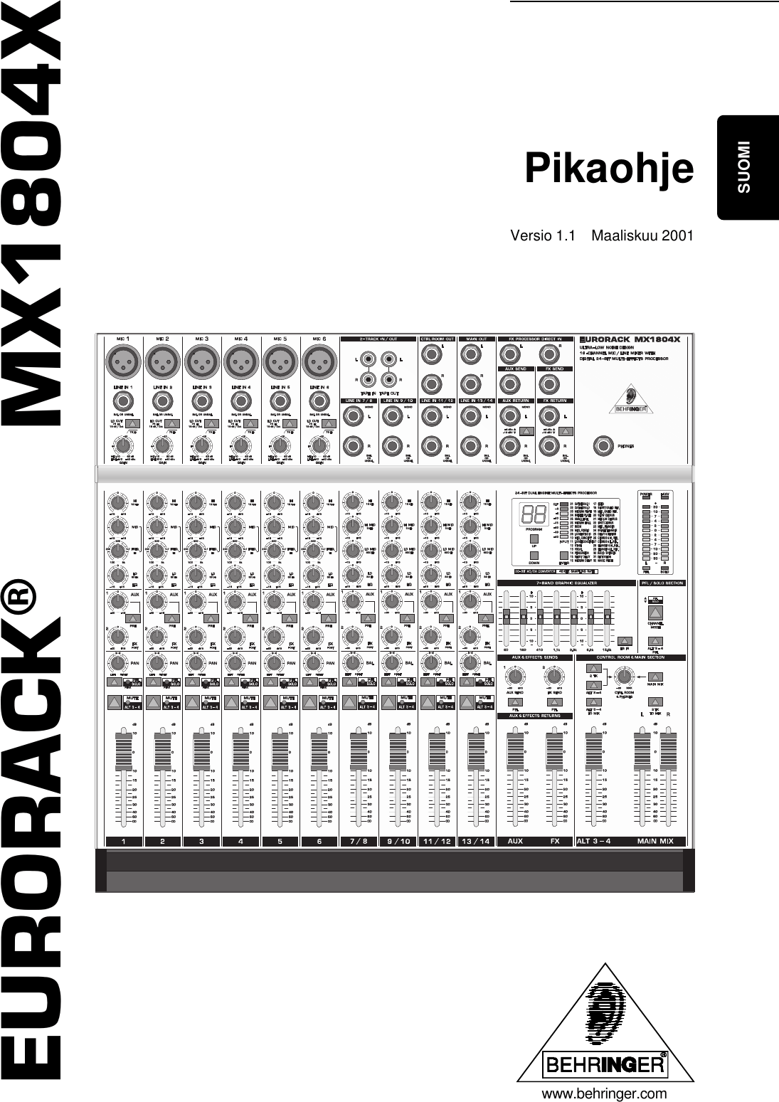 DATA MANSHRT_MX1804X_FIN_Rev. A.p65 Behringer MX1804X User