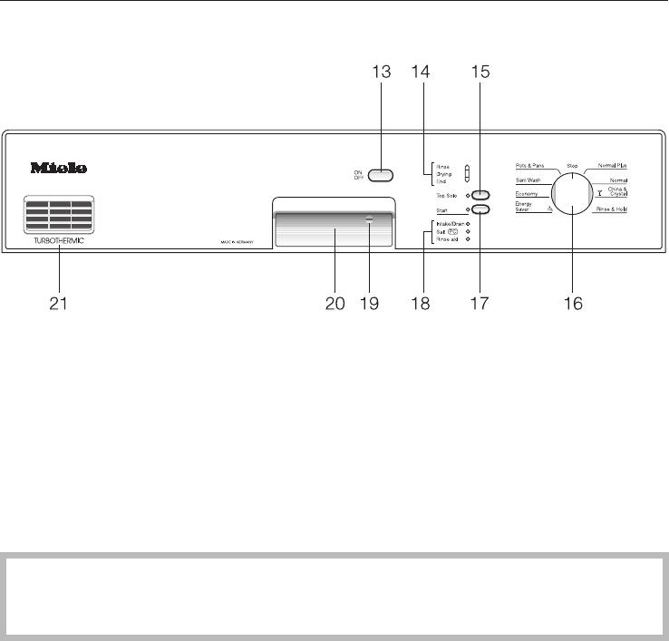 NOVOTRONIC G 851 SC Plus Miele Dishwasher Manual G851