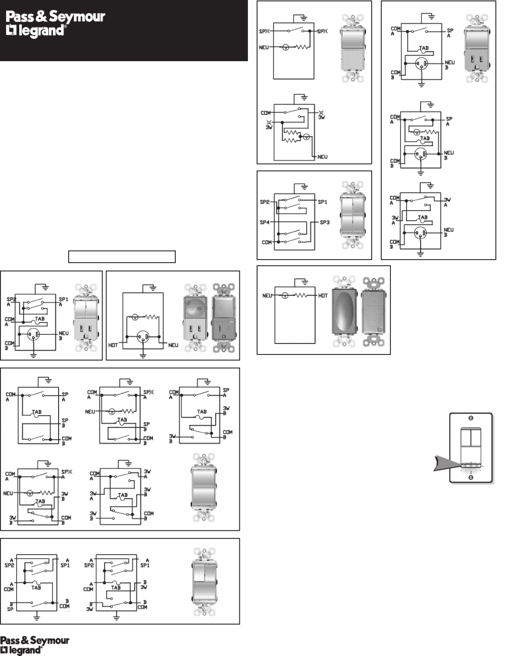 medium resolution of pas and seymour 4 way switch wiring diagram