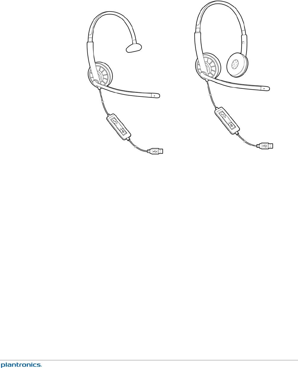 Plantronics Blackwire C310M/C320M USB Corded Headset User