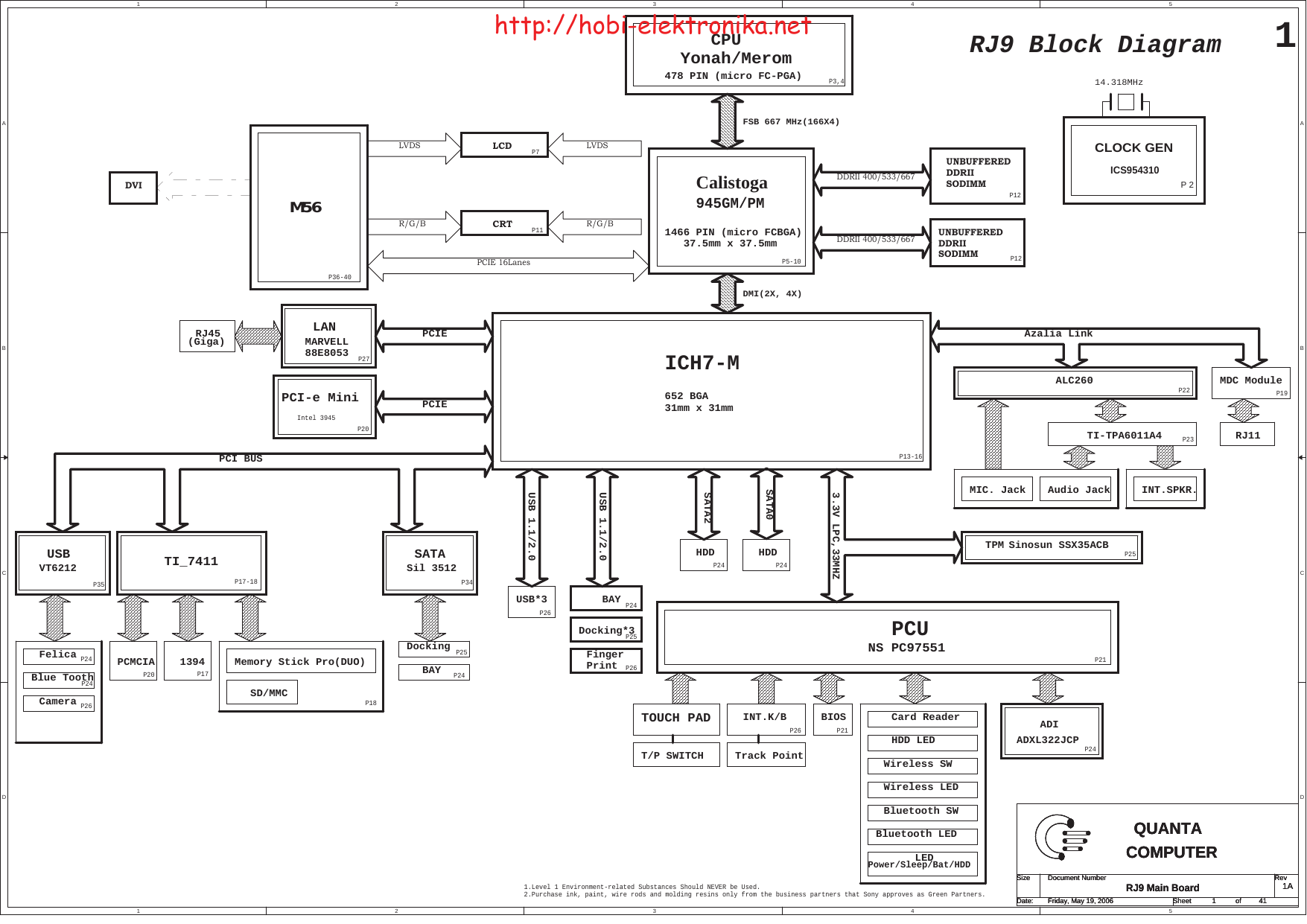 Rj9 mb c 0620 SONY VAIO QUANTA