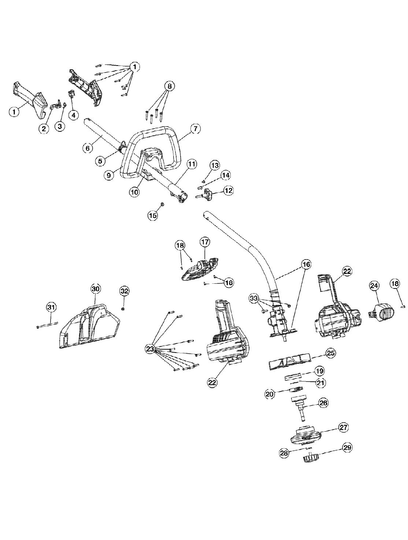 Diagram And/or PartsList TB26TB Troy Bilt Parts Manual
