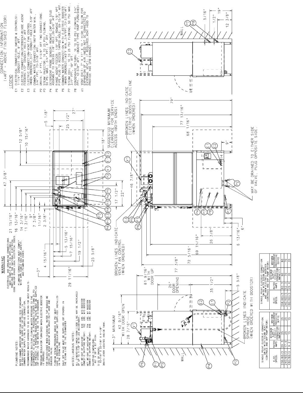 UW50 Utensil Washer Electric Heat 208 240/60/3 WAREWASHING