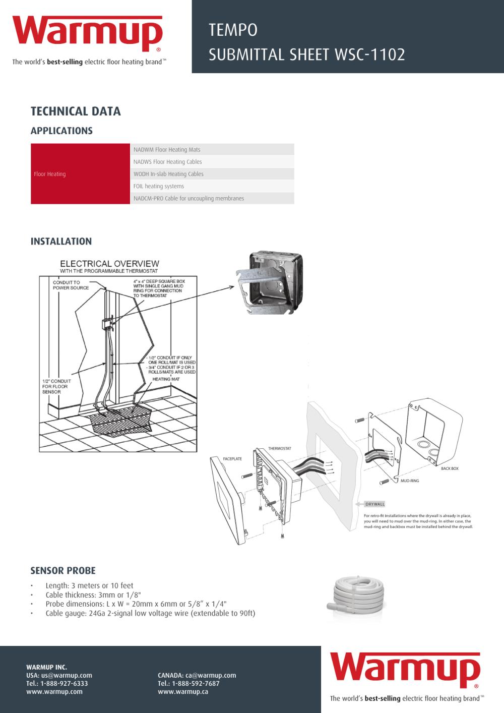 medium resolution of warmup underfloor heating thermostat wiring diagram