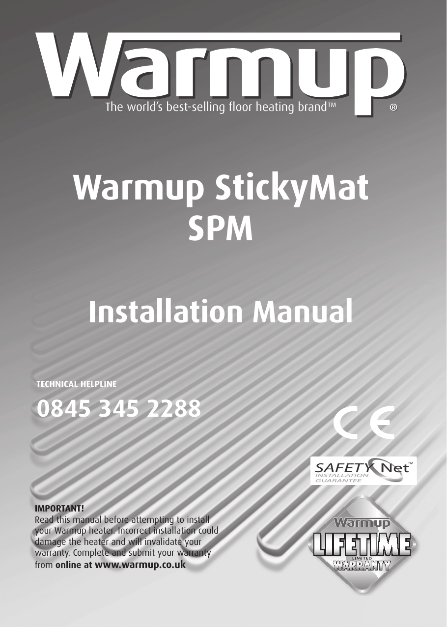 hight resolution of page 1 of 12 warmup sticky mat installation manual
