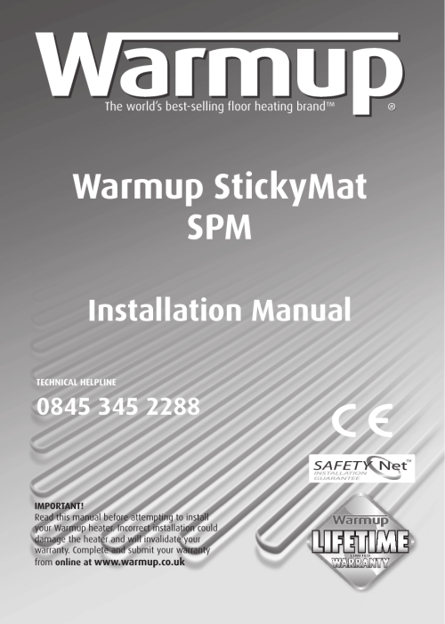 small resolution of page 1 of 12 warmup sticky mat installation manual