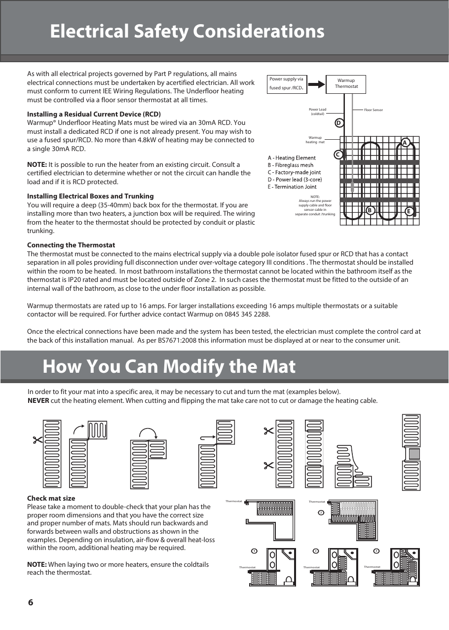 medium resolution of page 6 of 12 warmup sticky mat installation manual