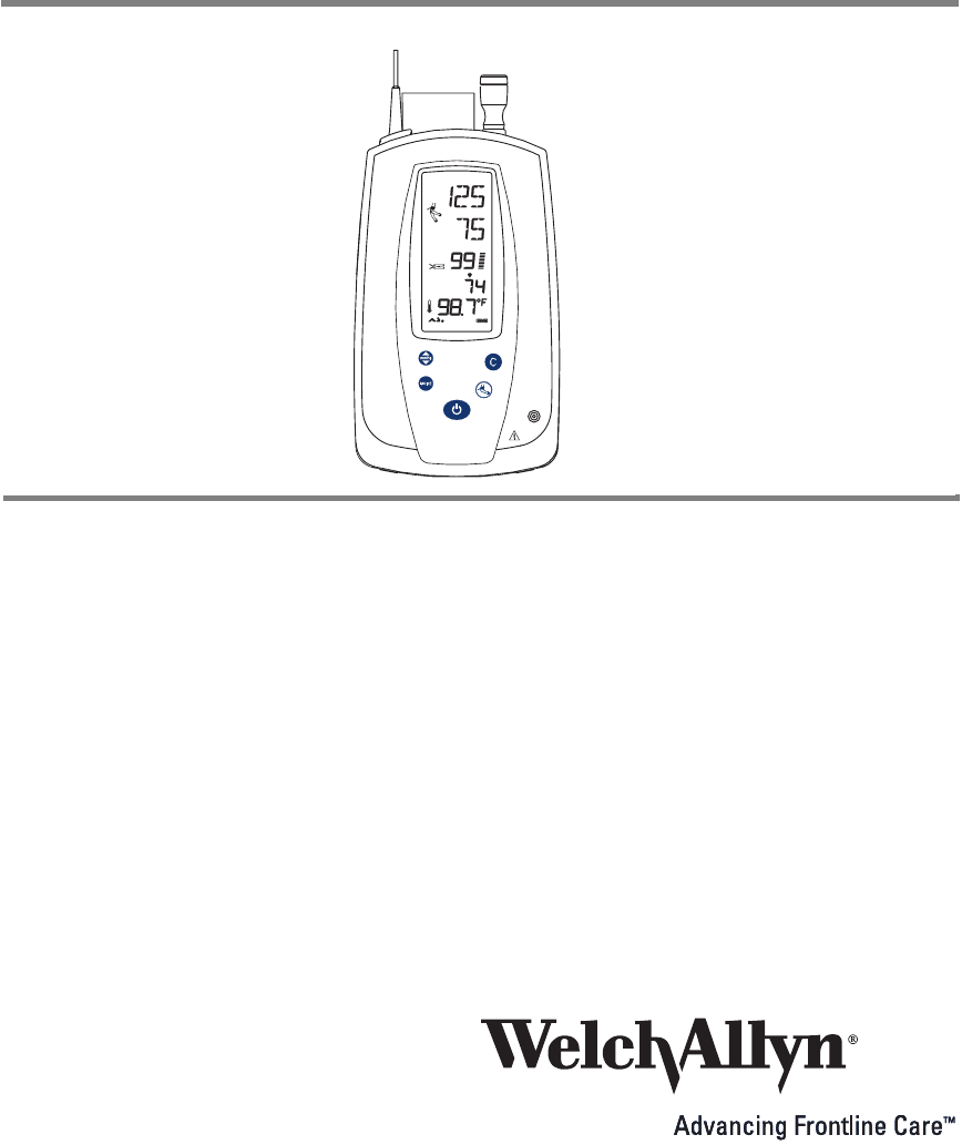Spot Vital Signs 420 Series Directions For Use Welch Allyn