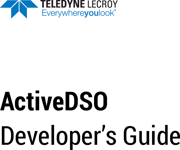 ActiveDSO Reference developers guide