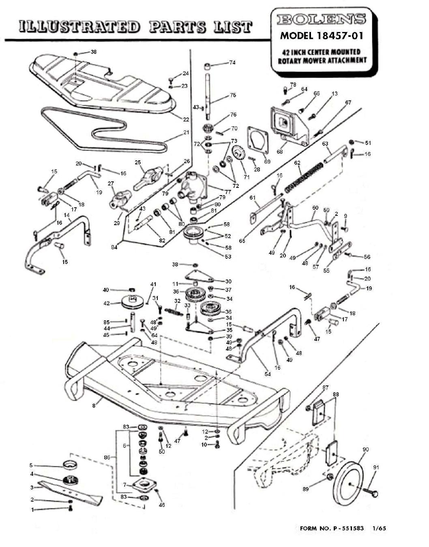 Bolens Mower Manual 18457 04 !! 18547