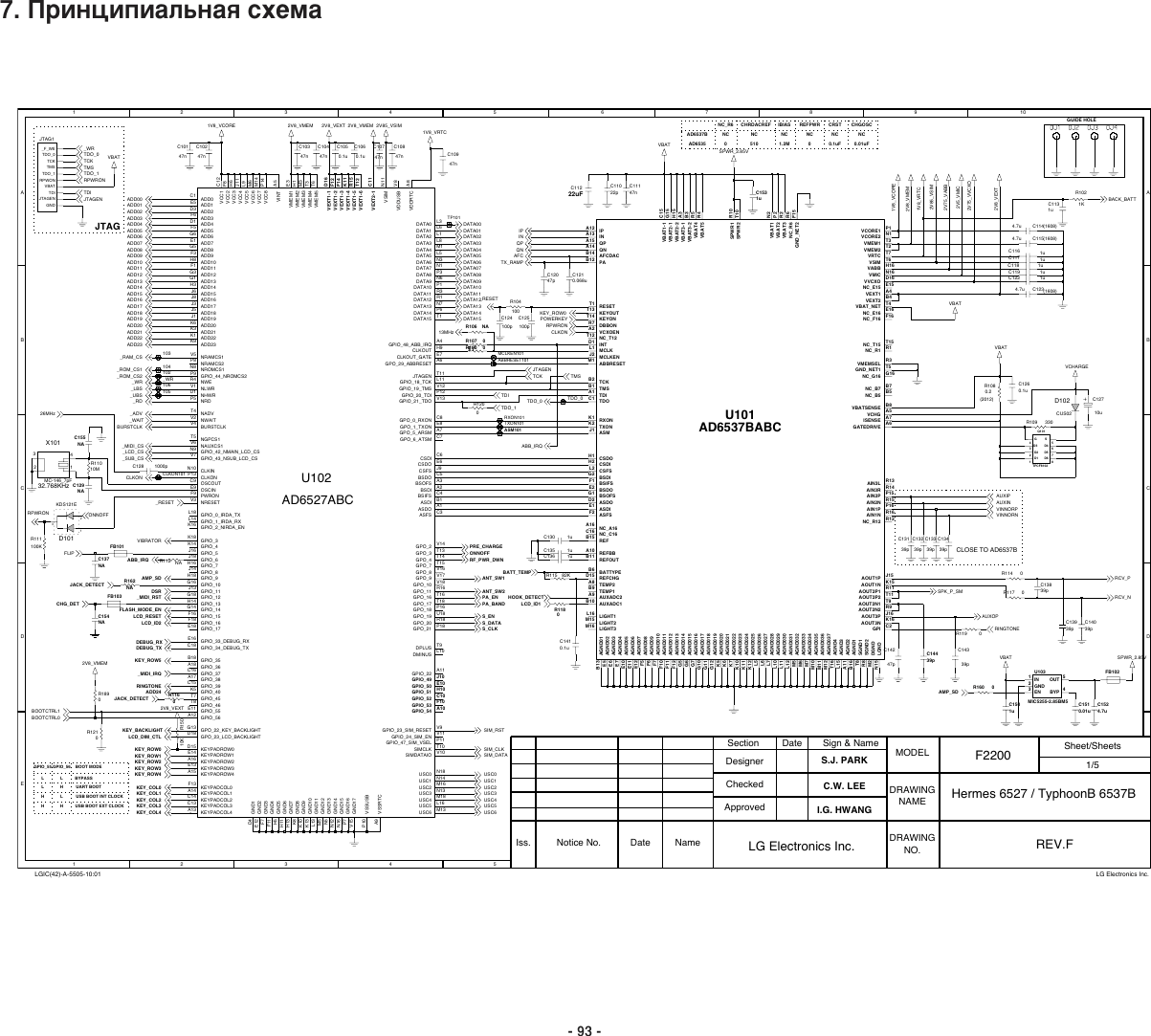 LG F2200 Schematics. Www.s manuals.com. Schematics