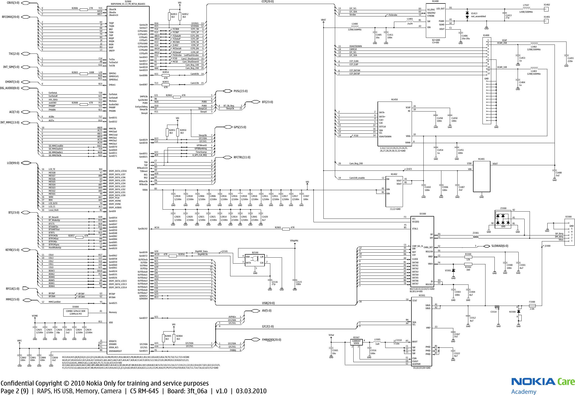 Nokia C5 00 RM 645 Service Schematics. Www.s manuals.com