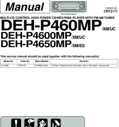 array pioneer deh p460mp p4600mp p4650mp service manual www s manuals rh usermanual wiki [ 1064 x 1579 Pixel ]