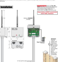 doorking 2364 065 e 11 14 door king wireless repeater kit installation manual [ 1087 x 1462 Pixel ]