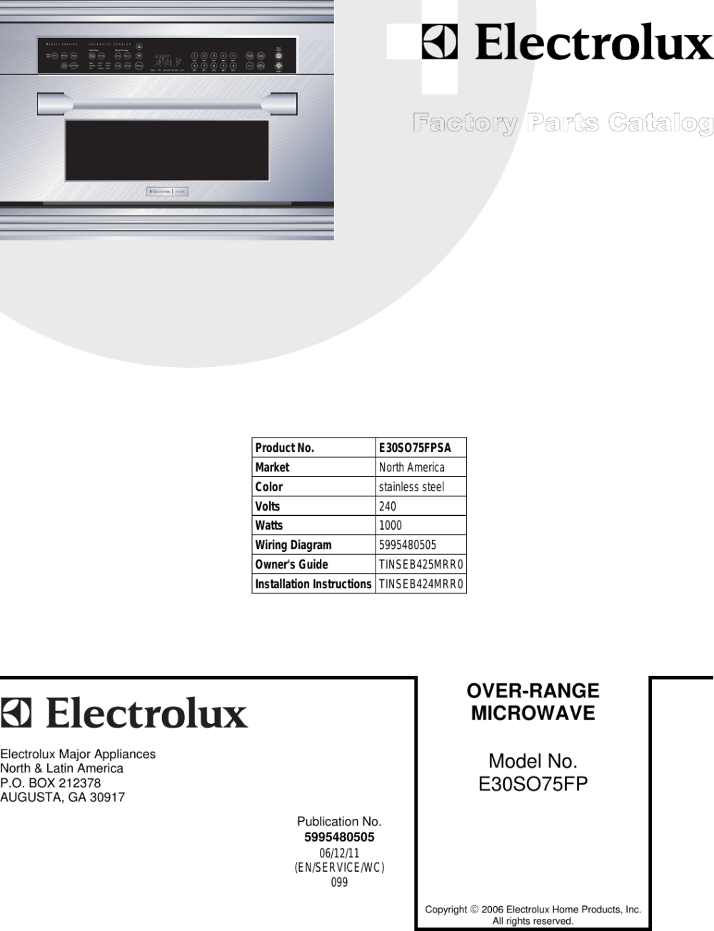 medium resolution of electrolux e30so75fp e30so75fps factory parts catalog user manual to the d3a7fe28 895c 41c8 9977 4c71208183ef
