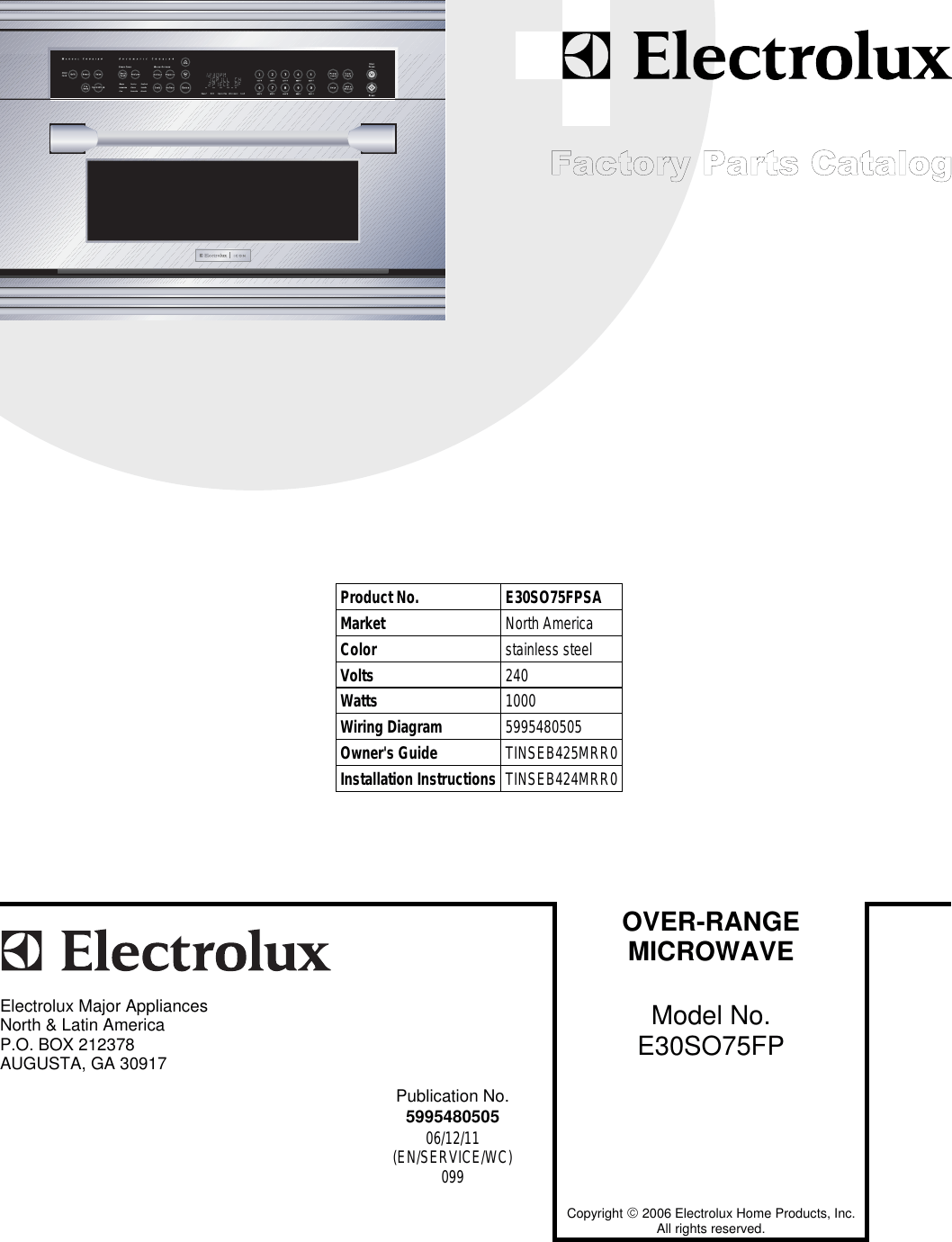 hight resolution of electrolux e30so75fp e30so75fps factory parts catalog user manual to the d3a7fe28 895c 41c8 9977 4c71208183ef