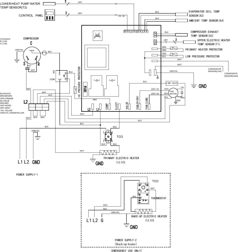 medium resolution of electrolux electric hybrid heat pump water heater ee66wp30ps wiring diagram scheme