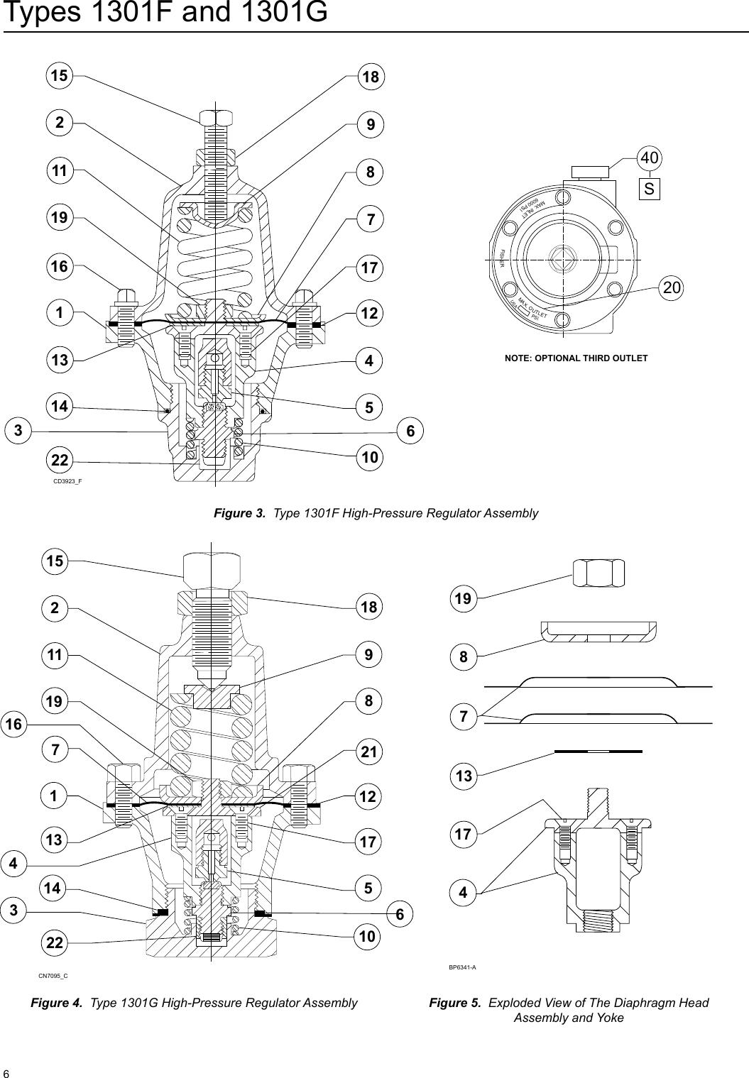 Emerson 1301 Series Pressure Reducing Regulators