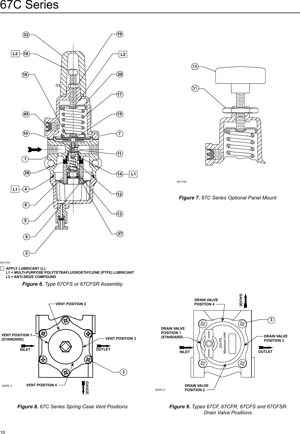 Emerson 67C Series Instrument Supply Regulators