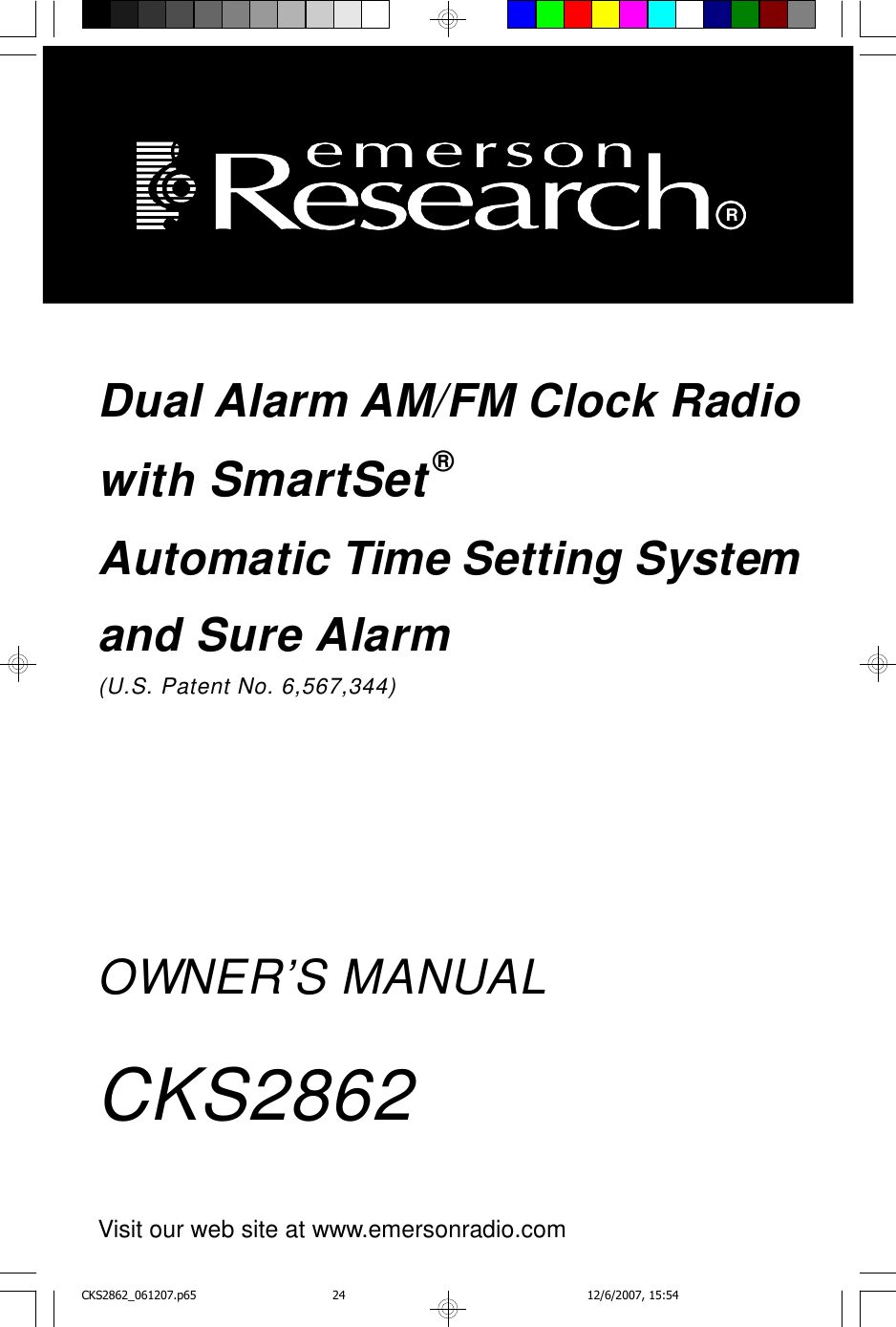 Emerson Cks2862 Owners Manual