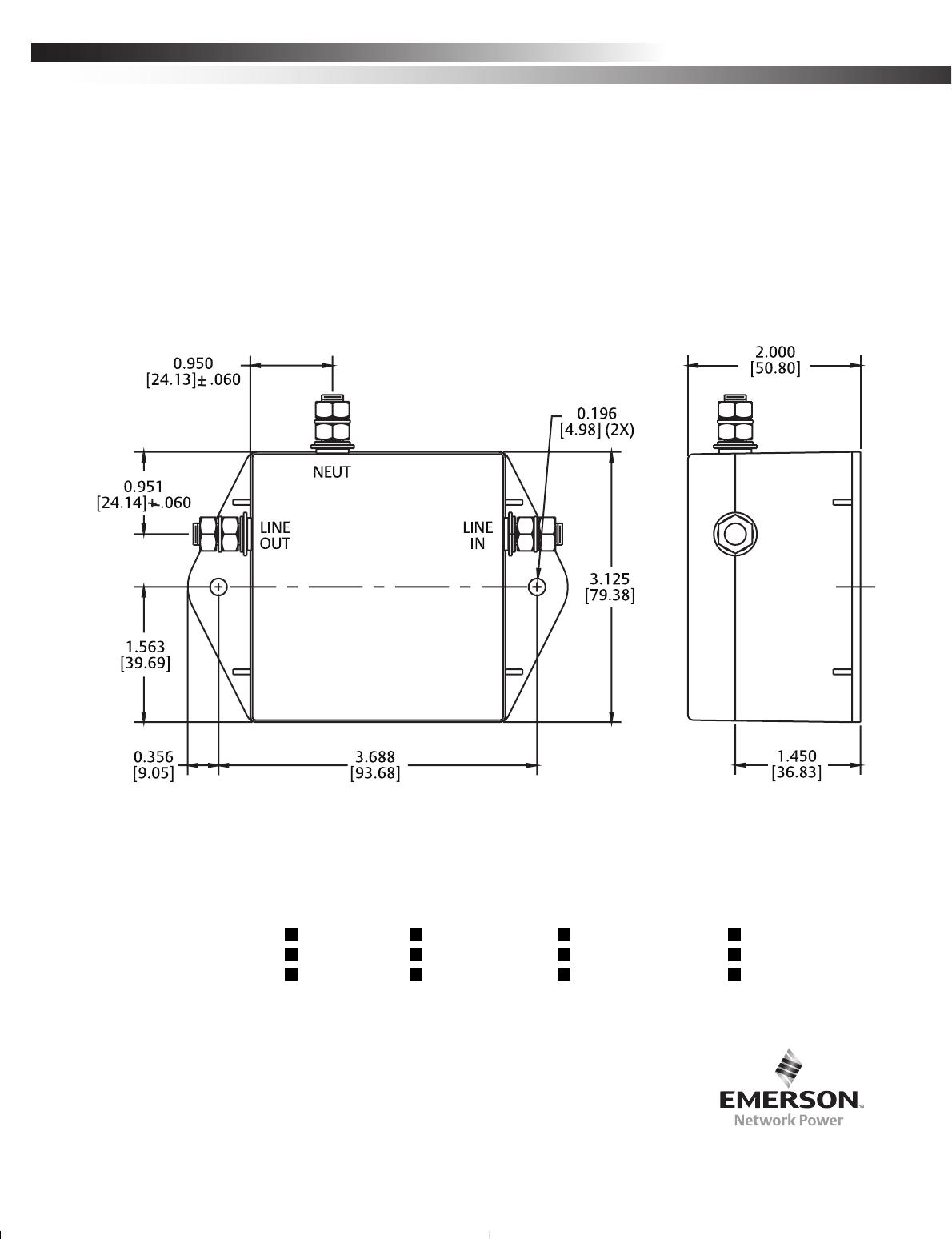 Emerson Islatrol Inxt120Nl000 1 Ac Power Line Filter