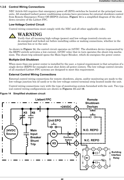 small resolution of epo switch wiring diagram
