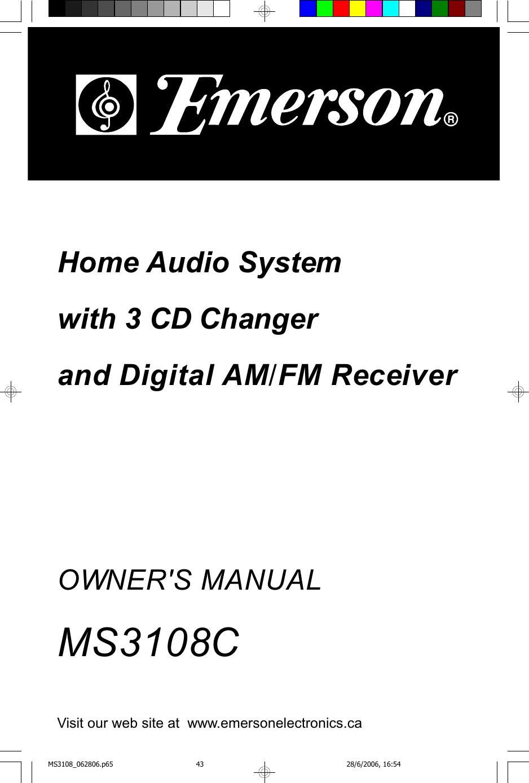 Emerson Ms3108C Users Manual 06900045 MS3108 En Vers
