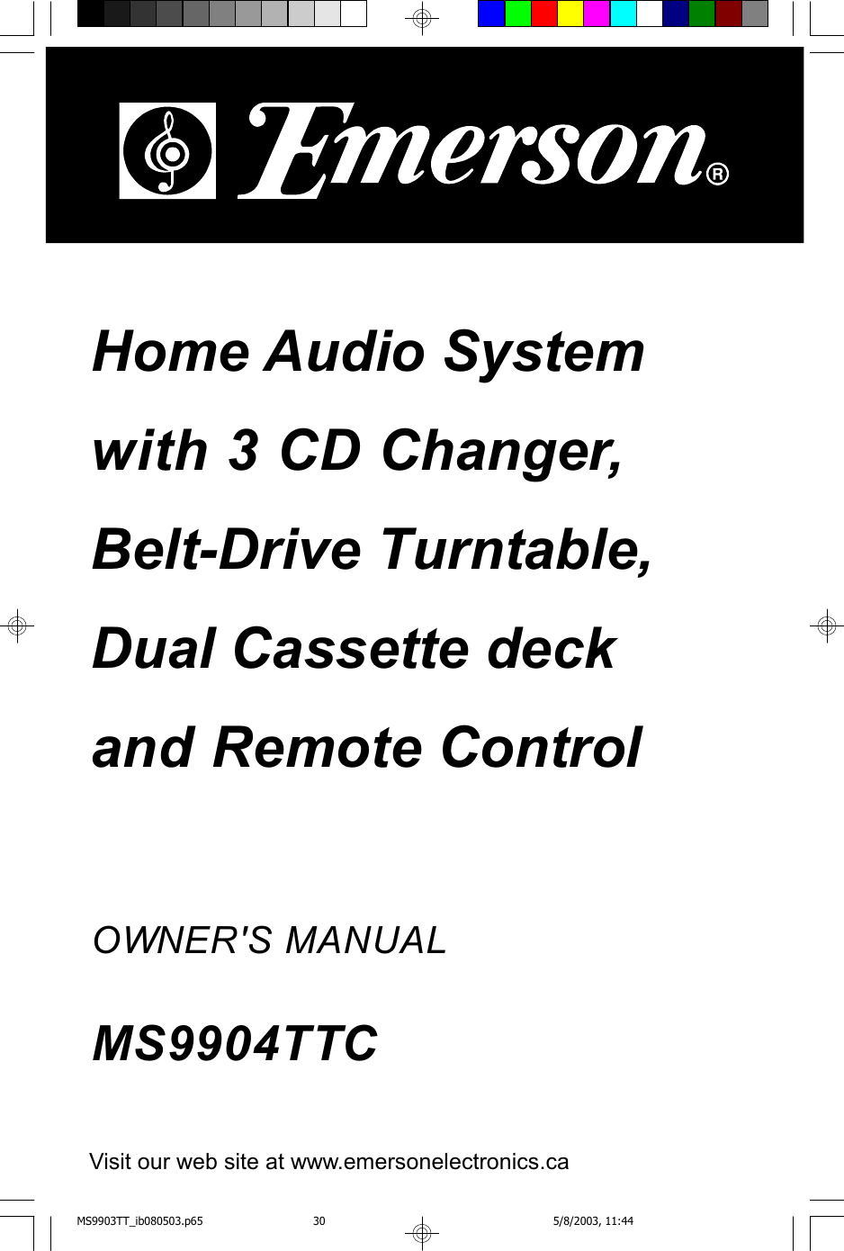 Emerson Ms9904Ttc Users Manual MS9903TTC gb new Add