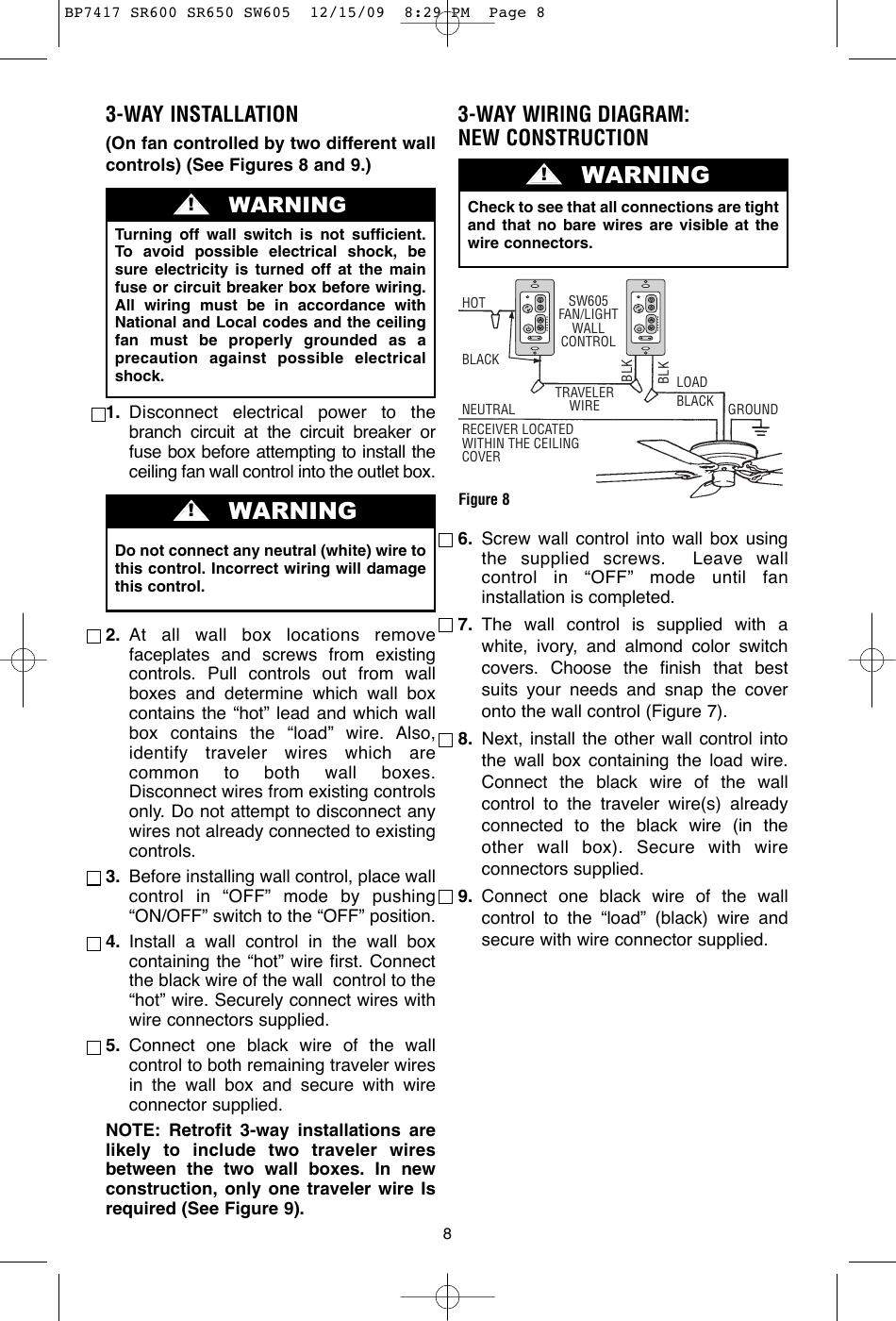 Emerson Sw605 Owners Manual BP7417 SR600 SR650