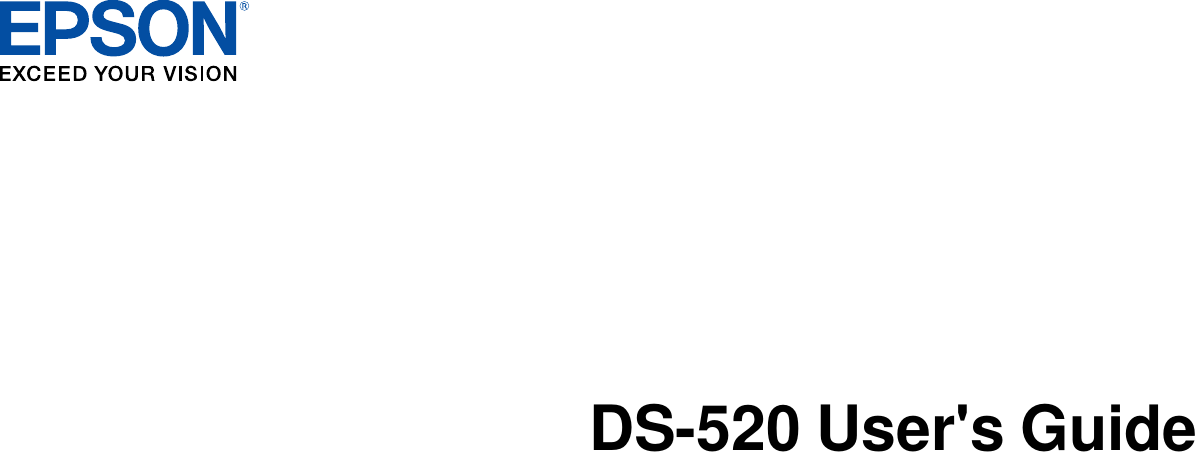 Epson Workforce Ds 520 Color Scanner Users Guide User's