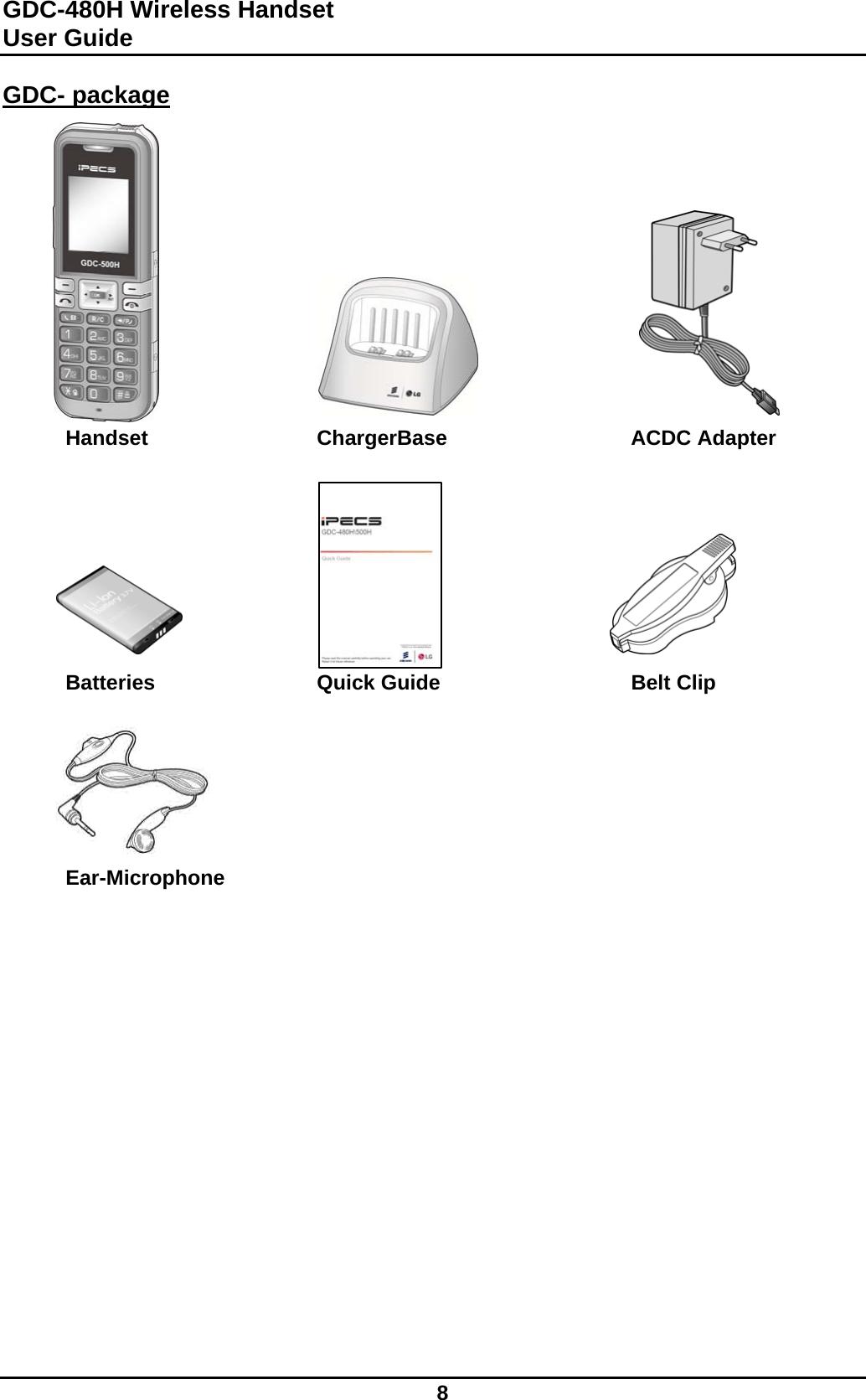 Ericsson LG Enterprise GDC-480H Wireless Handy Telephone
