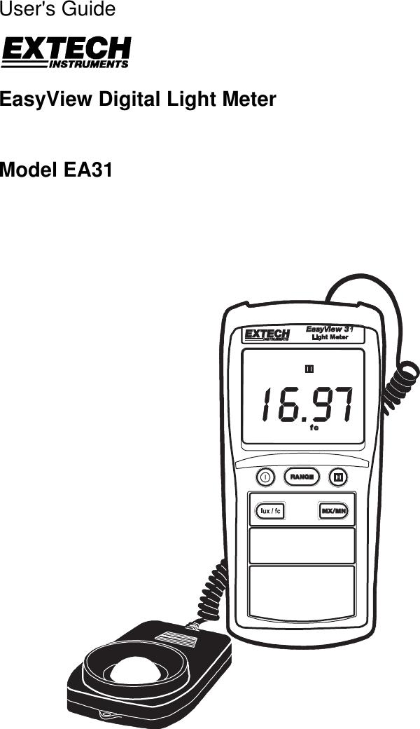 Extech Instruments Easy View Digital Light Meter Ea31