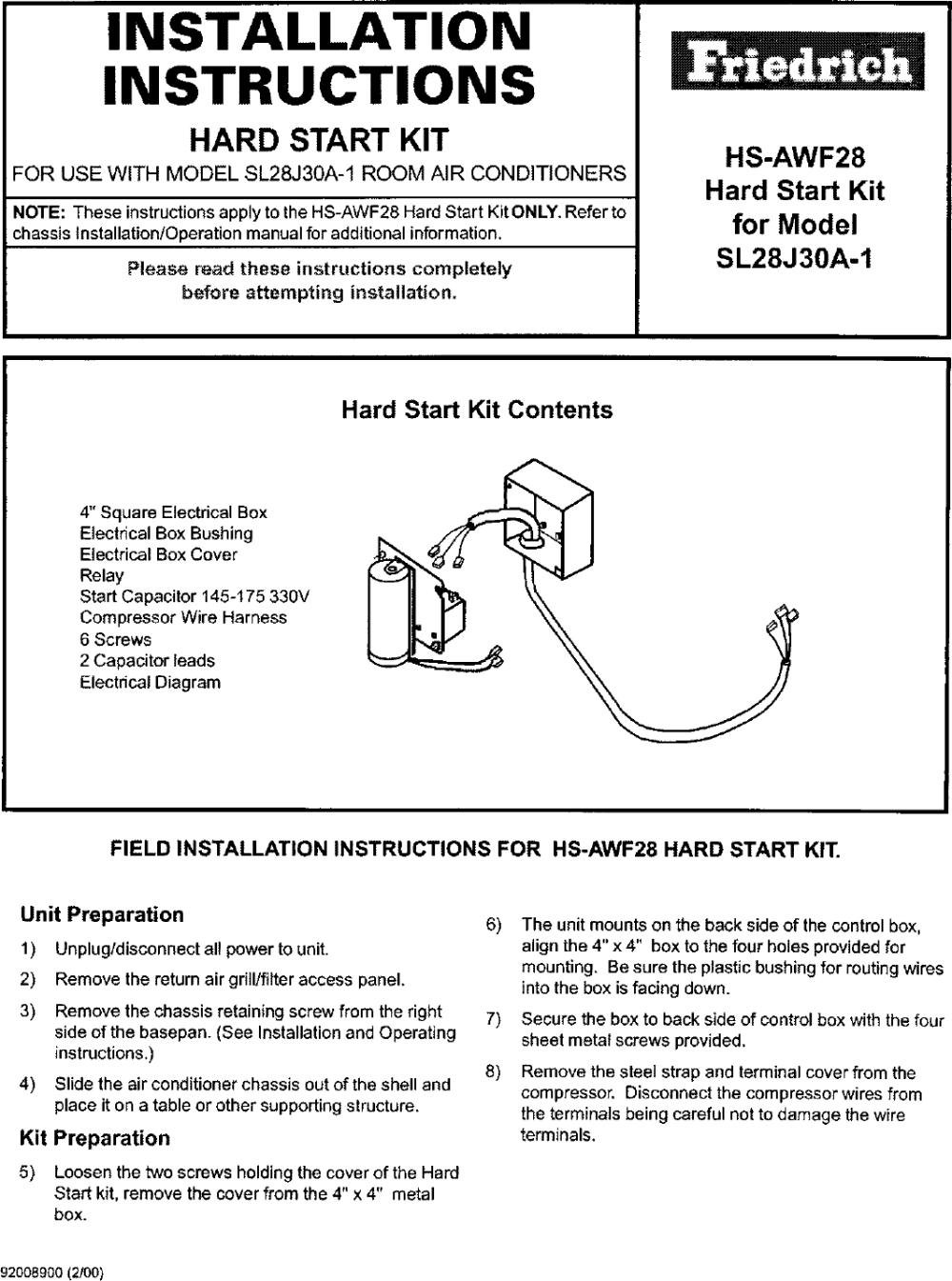 medium resolution of air conditioner hard start kit wiring diagram