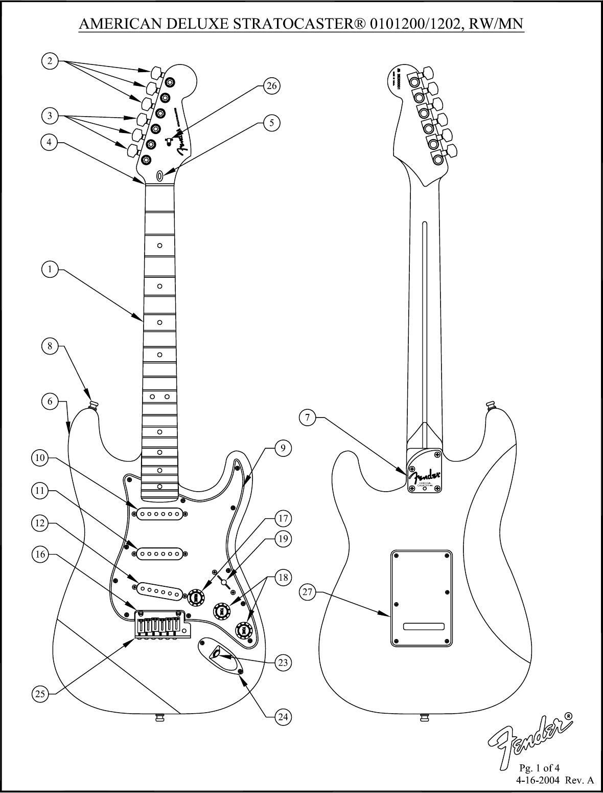 Fender SD01012007A SD01012027A 010 1200 02A SISD
