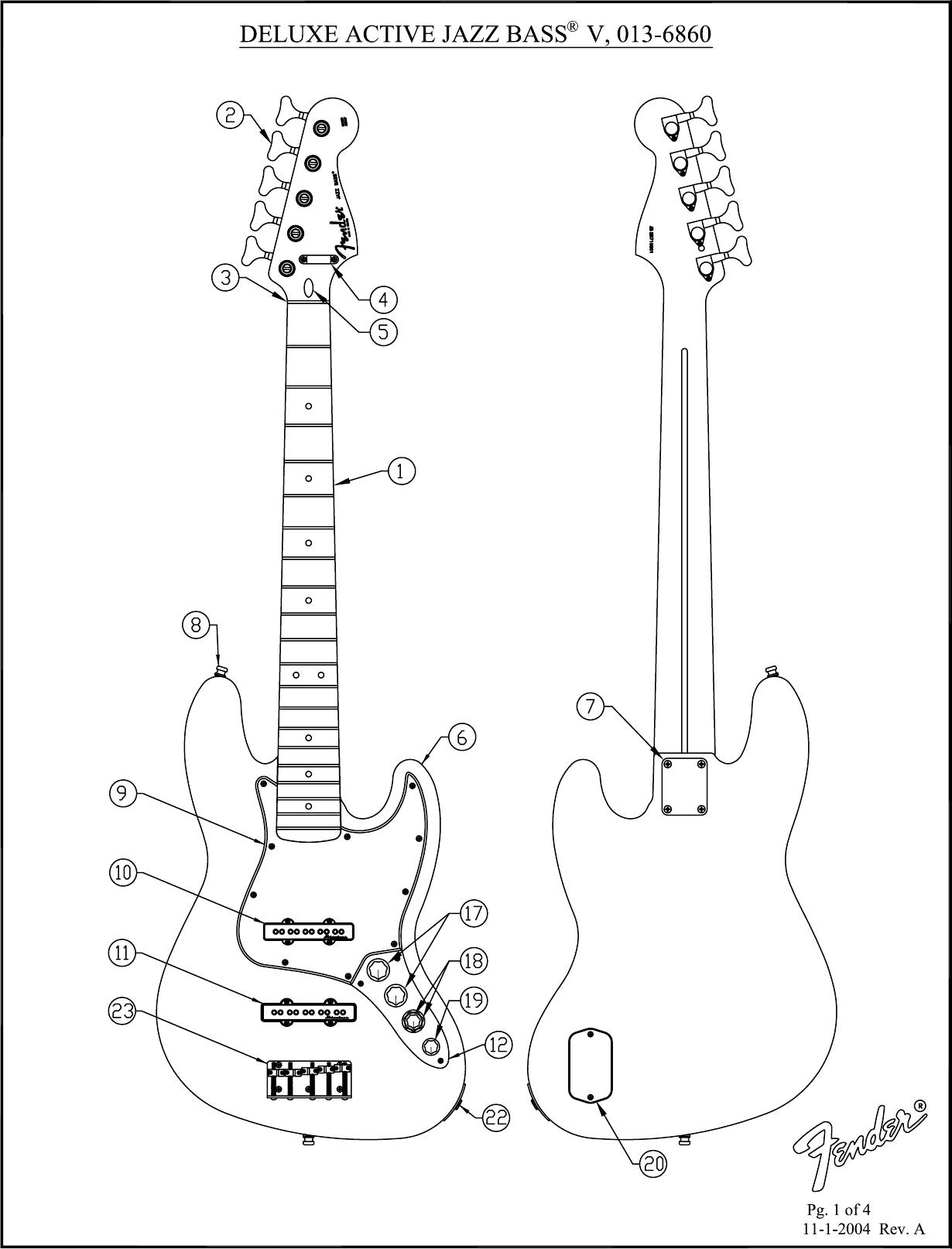 [View 30+] Fender Deluxe Active Jazz Bass Wiring Diagram