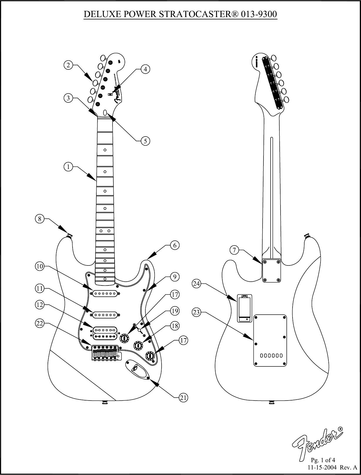 Fender _SD 013 9300 Deluxe Power Strat Rev A 9300A SISD