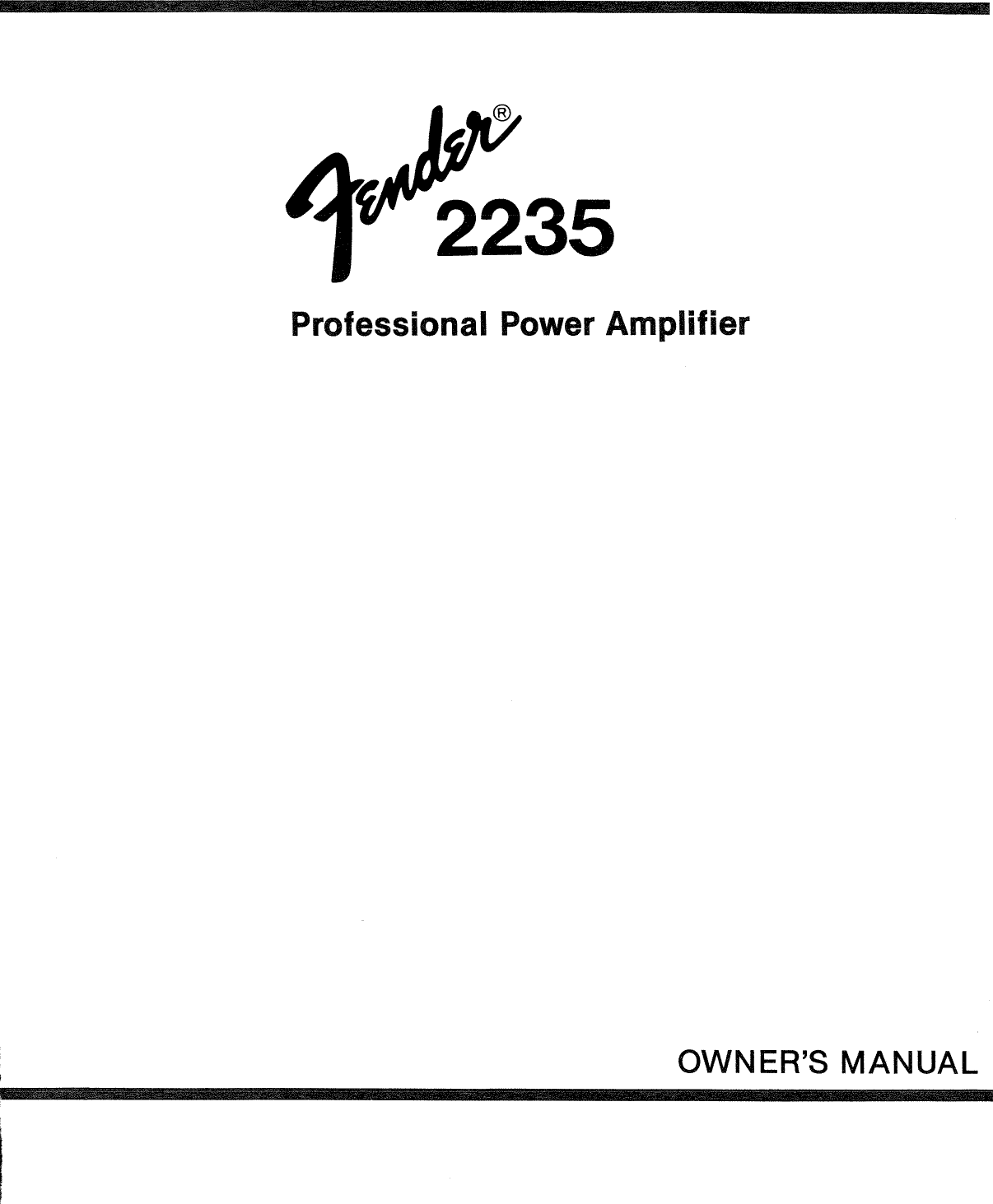 Bestseller: Fender Amp Manual