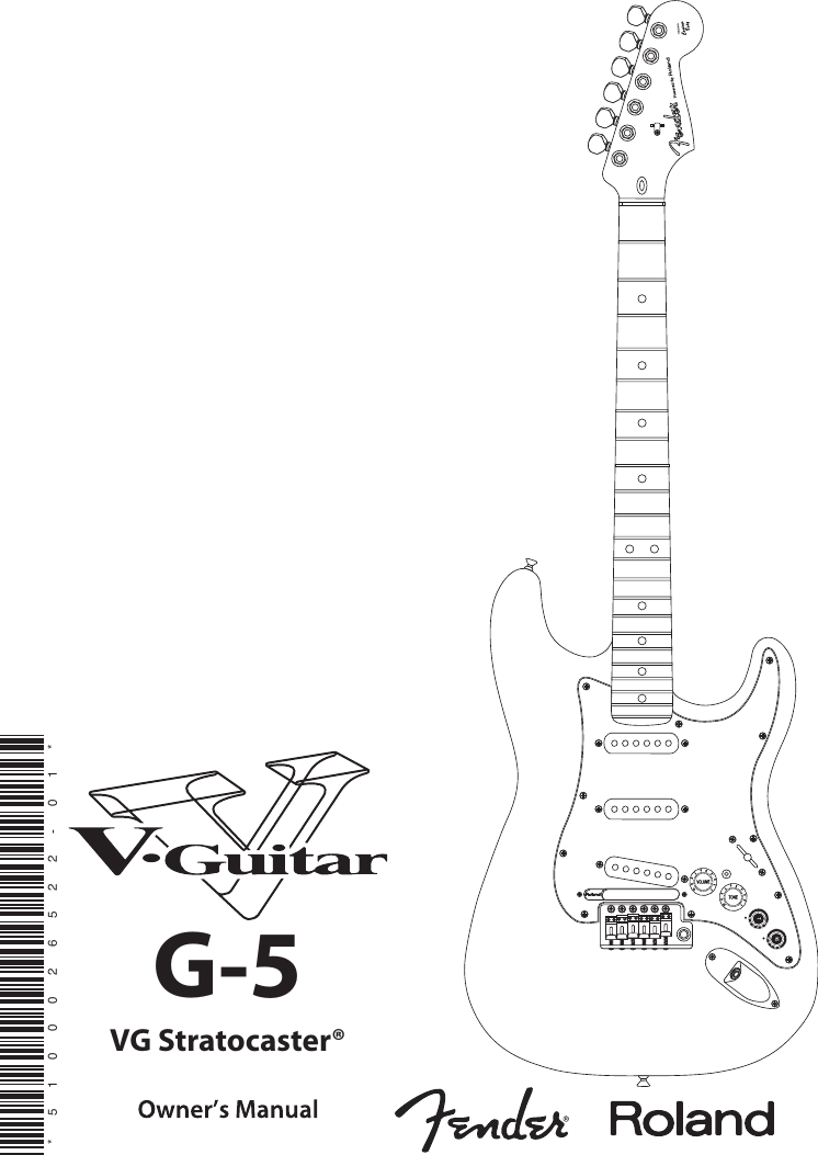 Fender Roland Vg Stratocaster V G 5 Users Manual 5_e