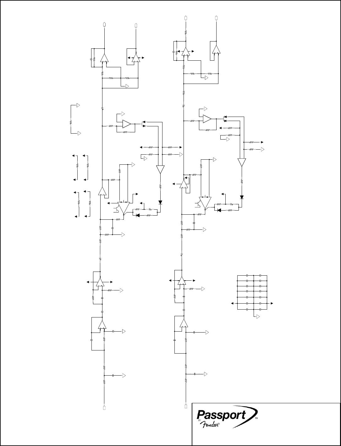 Fender Passport 150 PRO SVC_Man Schematics And Layouts