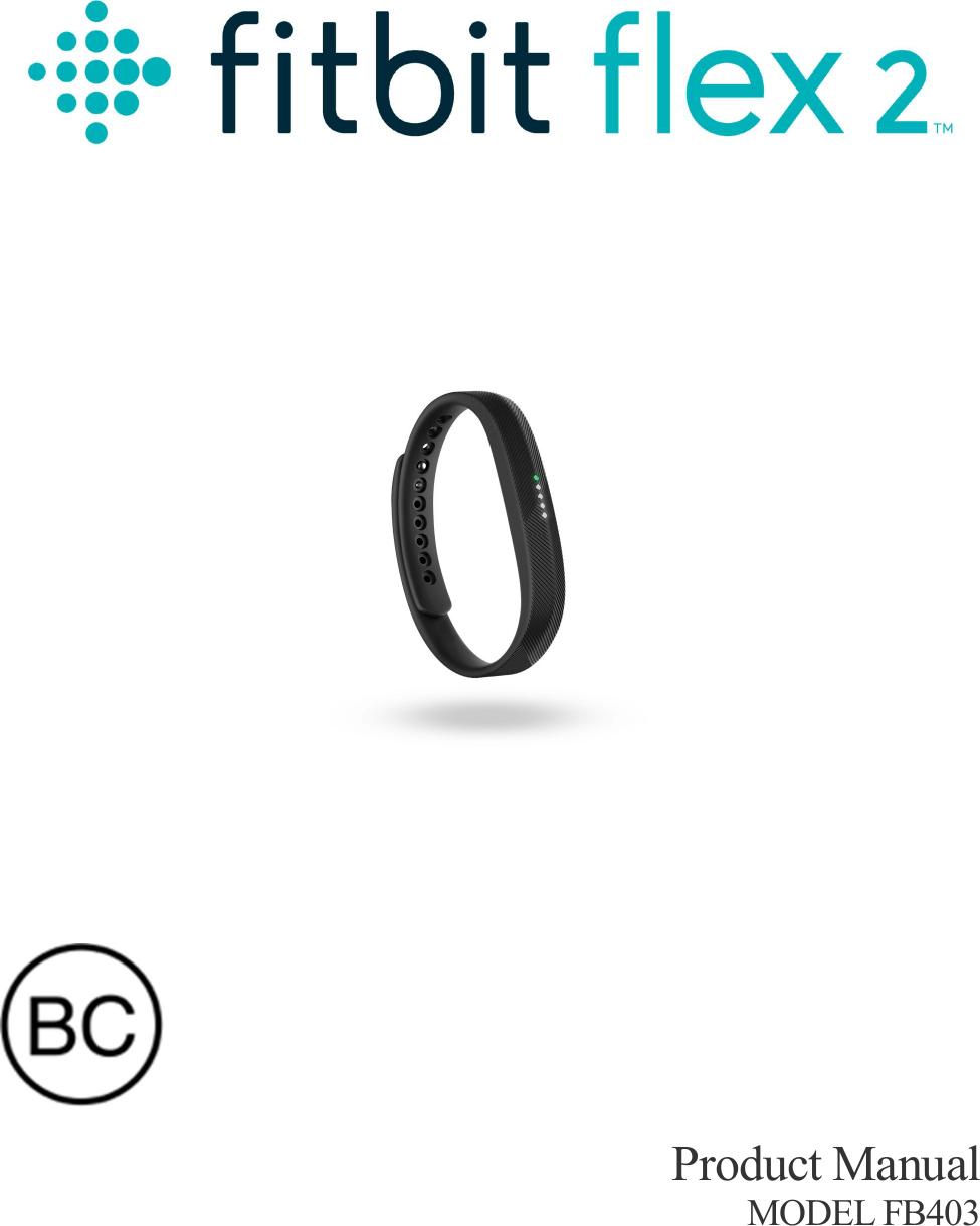 Fitbit FB403 Wireless Fitness Tracker User Manual