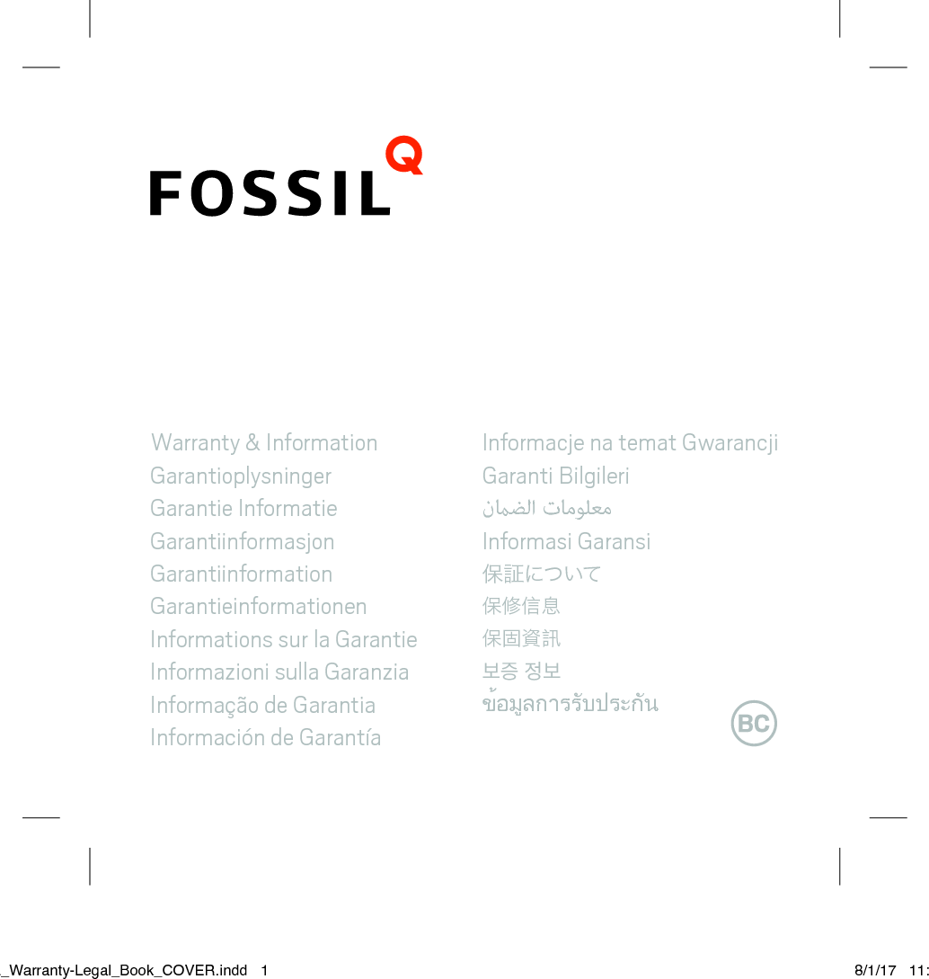 Fossil Group DW9 Smart Watch User Manual
